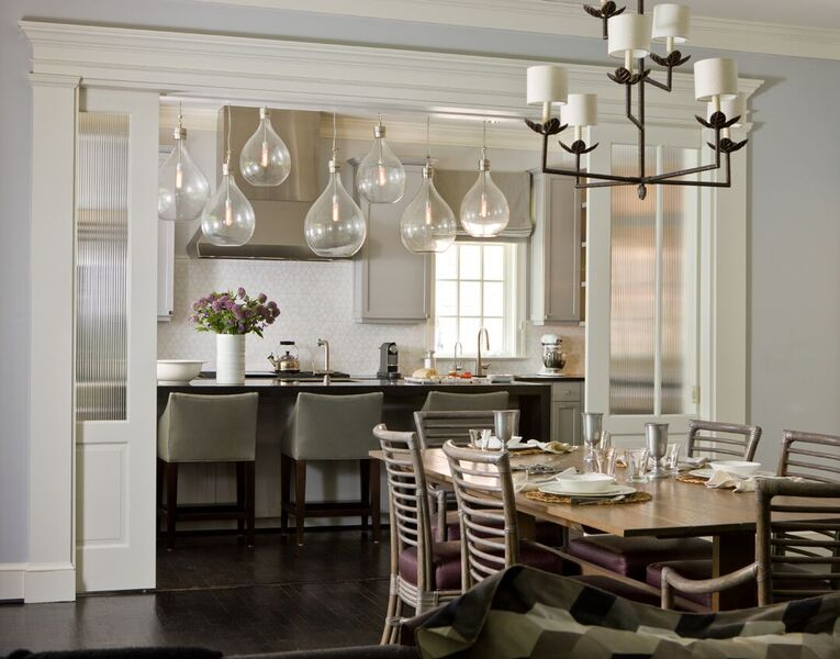 Eclectic Lighting Enlivens This DC Kitchen And Dining Area