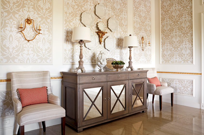 In An Arizona Vacation Home Sand Hued Furnishings And Coral Accents Reflect The Surrounding Environs INTERIOR DESIGN Kelley Interior Design