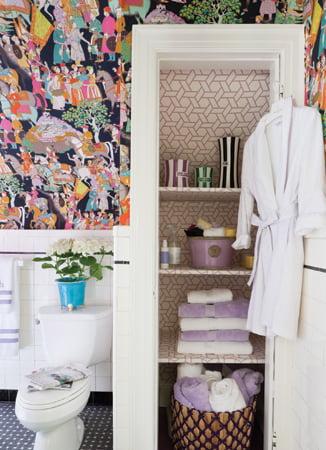 The third-floor bath, by Ann Wenzel of Anne Walsh Design.