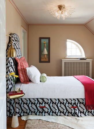 The third-floor guest bedroom, by Melissa McClay.