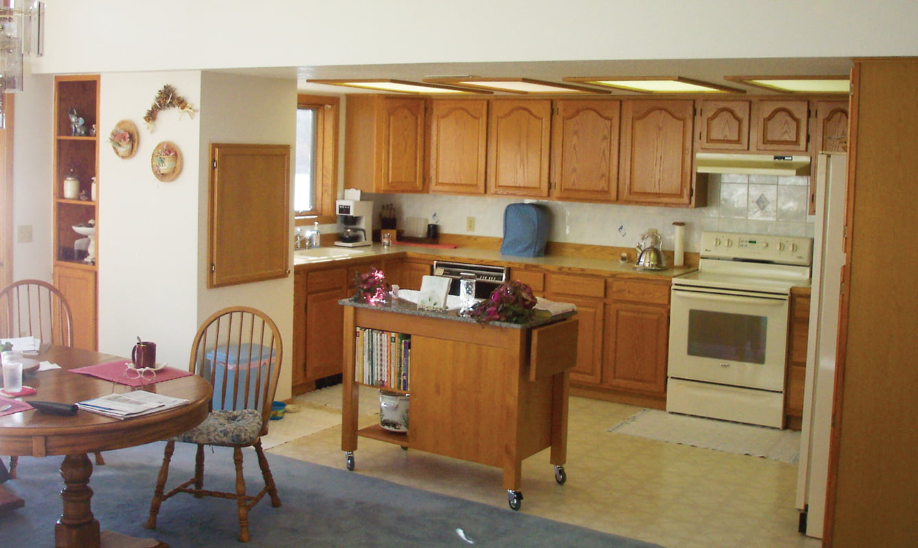 BEFORE: The kitchen, pre-renovation.
