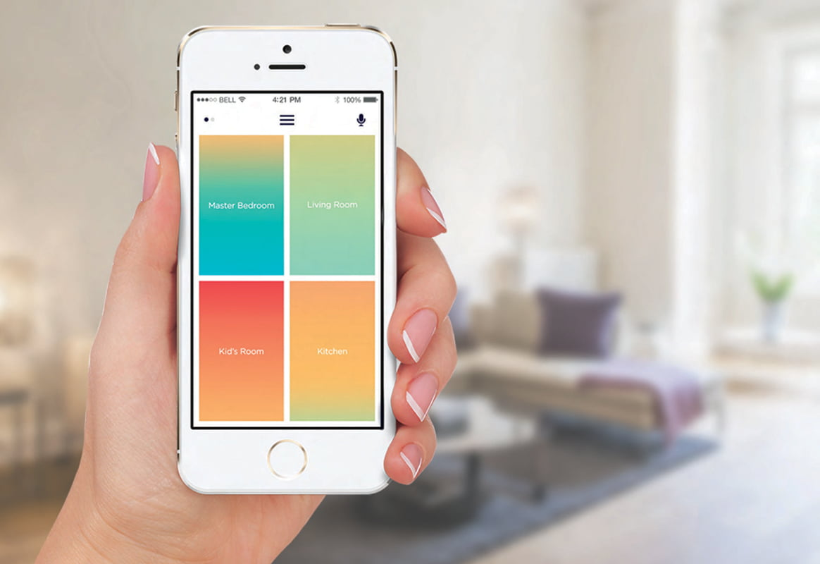 The app that remotely operates the Smart Vent.
