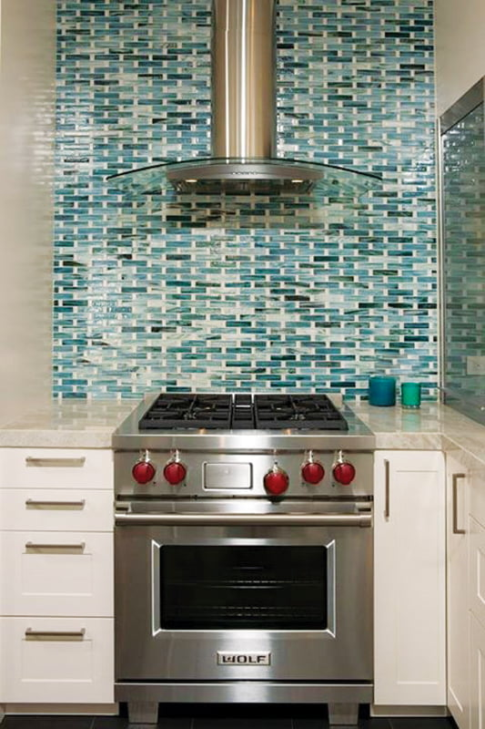 Architectural Ceramics' Tozen backsplash.