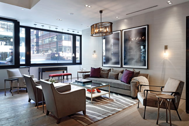 The Holly Hunt Showroom Offers Street Level Views.
