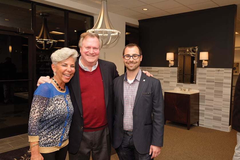 Alice Busch, Home & Design publisher Tod Herbers, Lucas Trunnell.