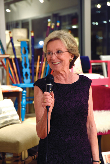 IFDA-DC chapter president Jeanne Blackburn at the 2014 Take a Seat event.