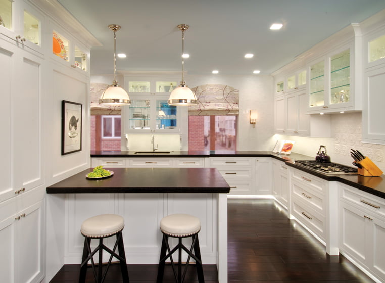 DDK Kitchens helped the owners lay out the kitchen and select cabinetry.