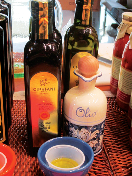Balsamics and olive oils by Cipriani.