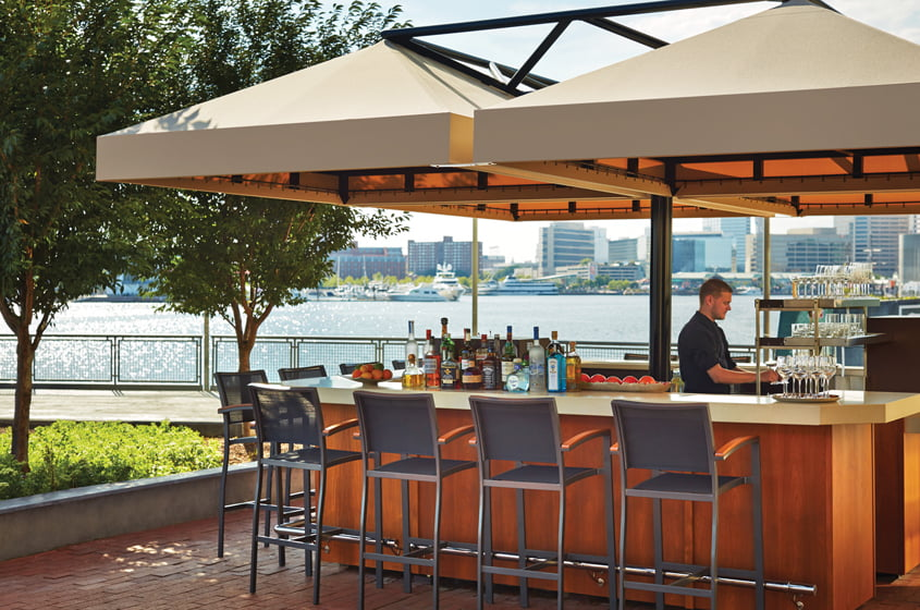The outdoor dining venue, Wit on the Water.