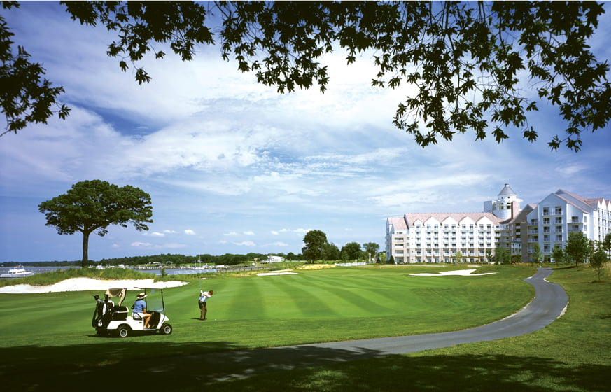 The resort's 18-hole, waterfront course was designed by Keith Foster.
