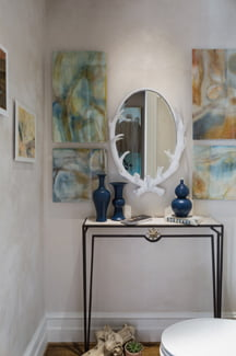 The powder room, by Lisa Tureson of Studio Artistica.