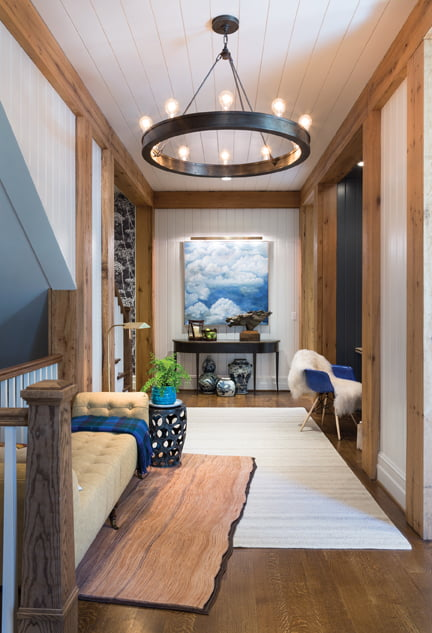 The back hall, by David Benton of RA Spaces and Rill Architects.