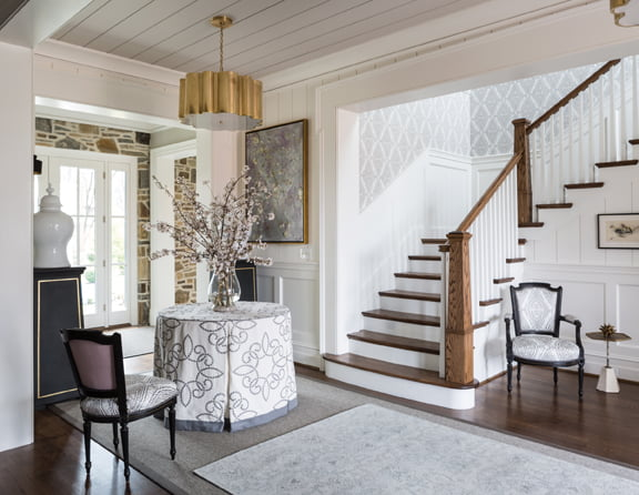 The front entry, by Pamela Harvey Interiors, LLC.