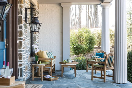 The front porch, by Country Casual's Nicolette Powell and John LeMieux.