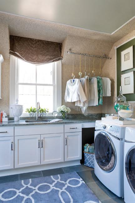 The laundry room, by Lynni Megginson Designs, LLC.