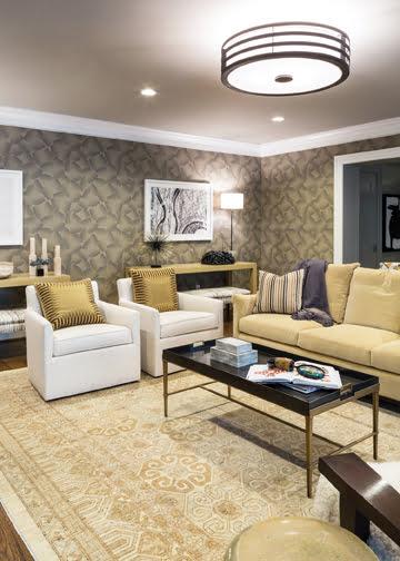 The lower-level den, by Samantha Friedman Designs, LLC.