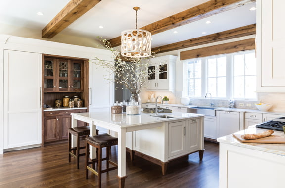 The kitchen, by Emily Neifeld and J. Paul Lobkovich of Lobkovich Kitchen Design.