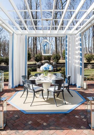 The garden pavilion, by Skip Sroka and Antonella Cestone LaFranchise of Sroka Design Incorporated.