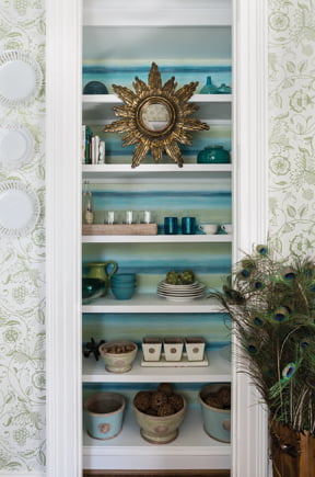 A detail from the butler's pantry, by Margery Wedderburn Interiors, LLC.