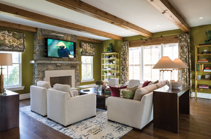 The family room, by Iantha Carley Interiors.
