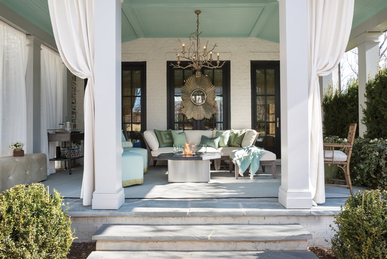 The loggia, by Nancy Colbert of Design Partners, LLC.