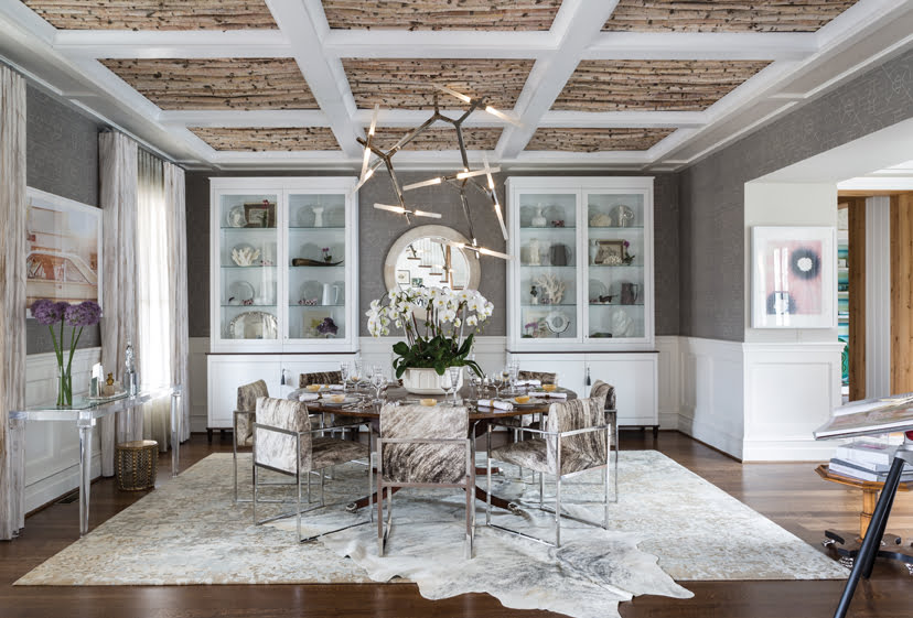 The dining room, by Jeff Akseizer and Jamie Bell of Akseizer Design Group.