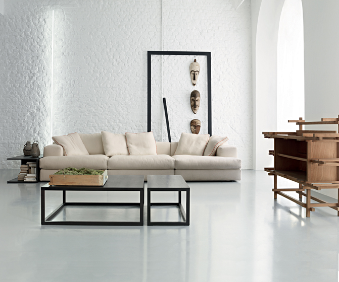 Cassina's sleek, modular Miloe seating collection.
