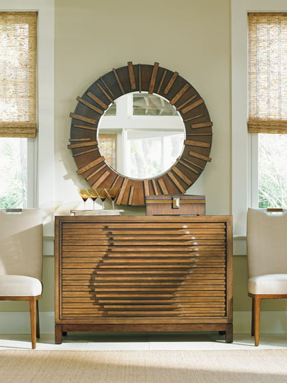 The Madura Hall Chest from Tommy Bahama's Asian-inspired Island Fusion collection.