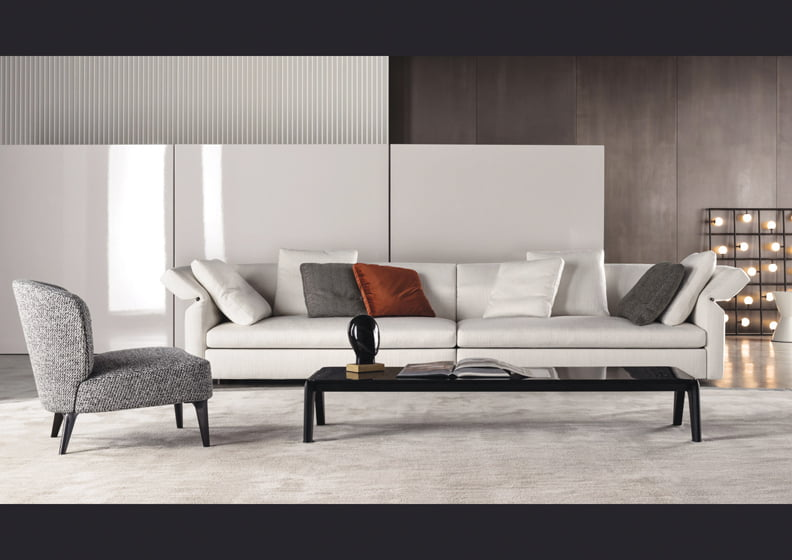 Minotti's versatile Collar sofa.