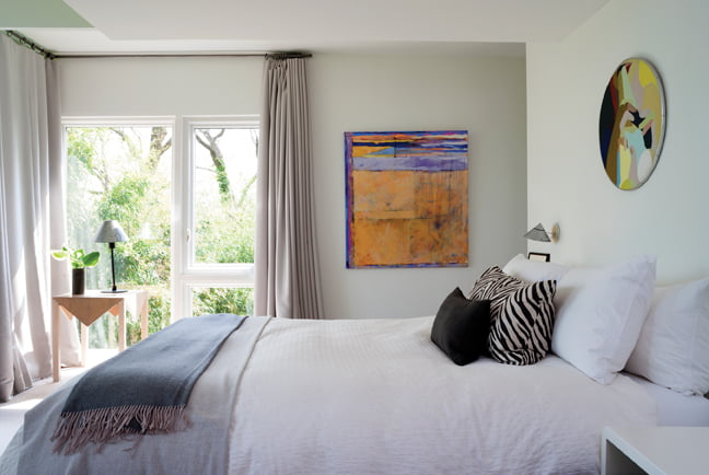 The master bedroom is an oasis of calm.