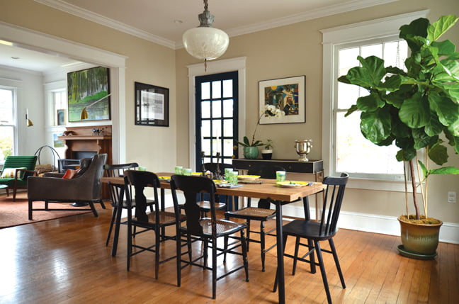 In a Chevy Chase home, Lanteri put a modern spin on farmhouse style.