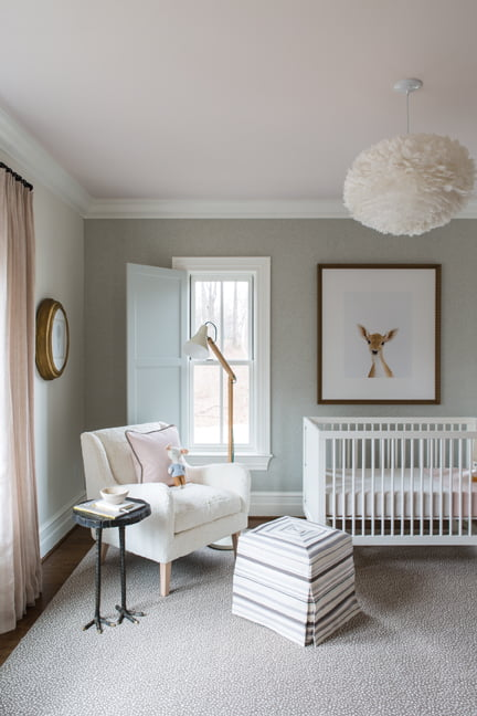 The nursery, by Nancy Twomey of Finnian's Moon Interiors.