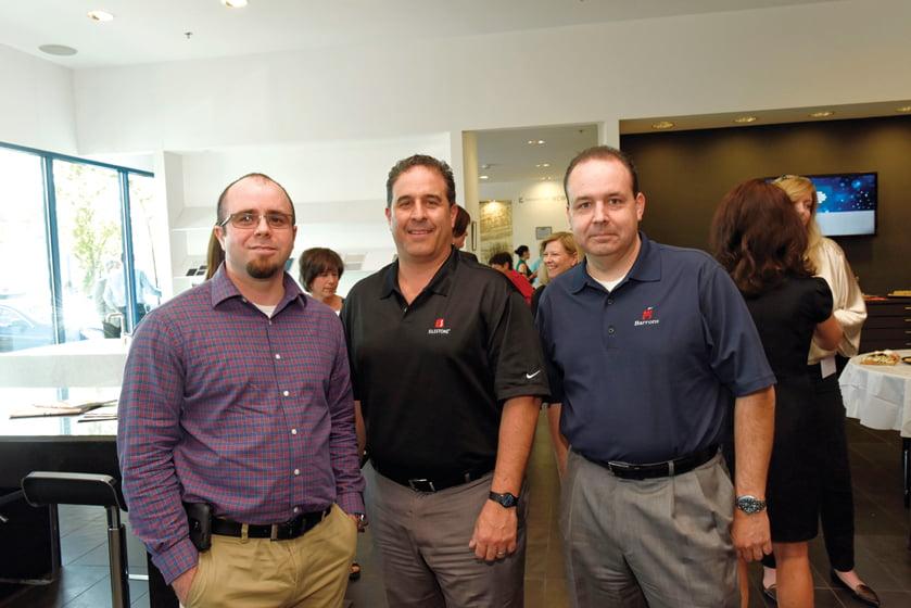 Josh Sigmon, Keith Novosel, Cosentino's Larry Mazzola.