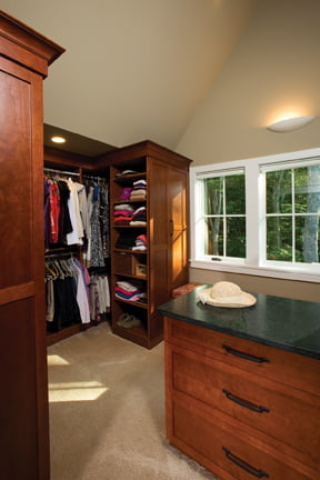 The suite also features a spacious dressing room.