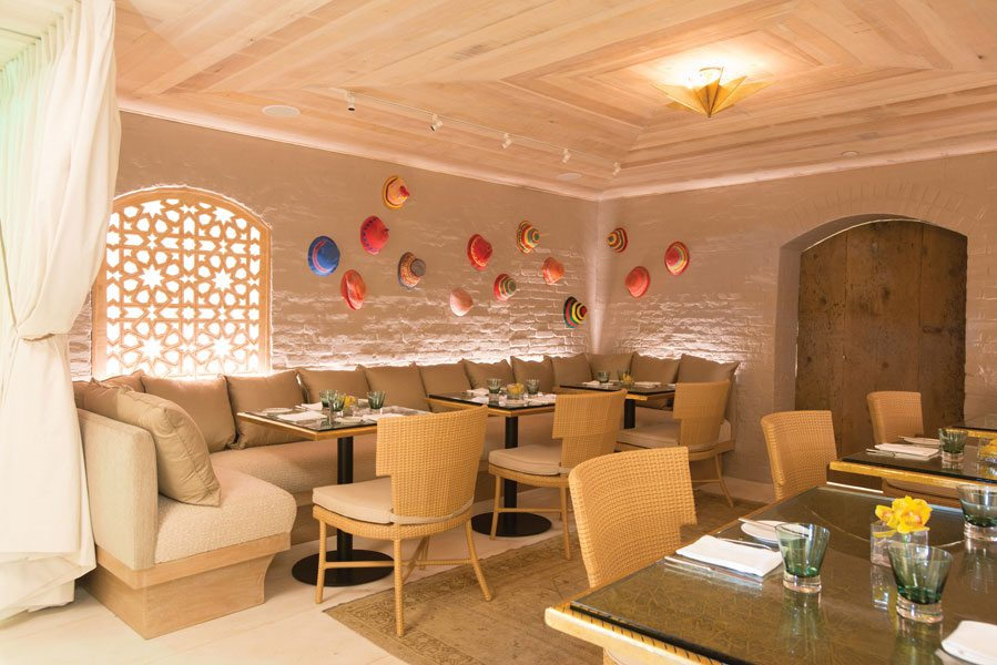 One of Magdalena's dining rooms sports a Moroccan theme.