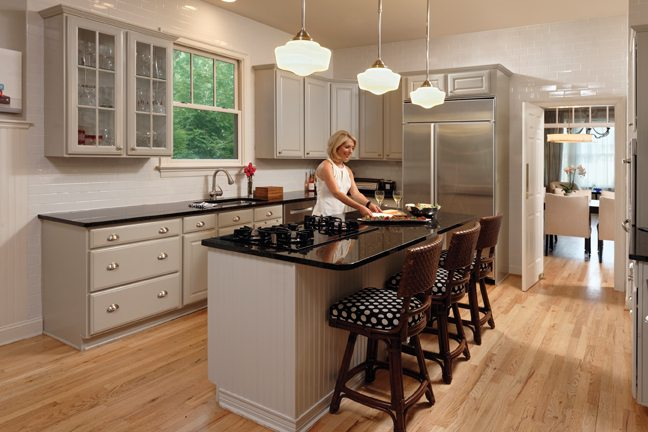 Bash enjoys food prep in her spacious kitchen.