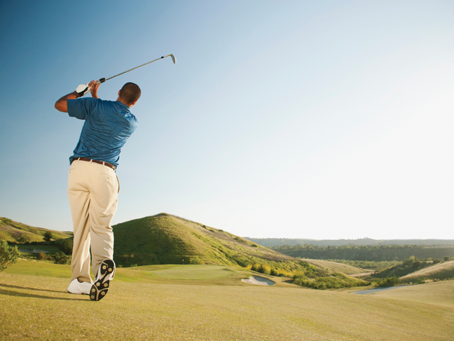The club-mounted M-Tracer helps golfers improve their technique.