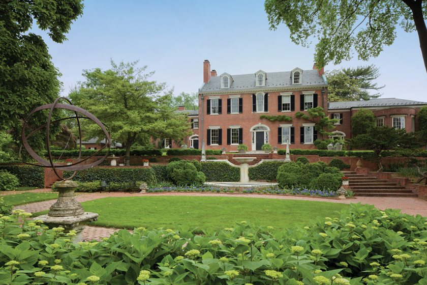 Evermay, a historic home in Georgetown, was remodeled by James F. Rill, AIA   ©Gordon Beall