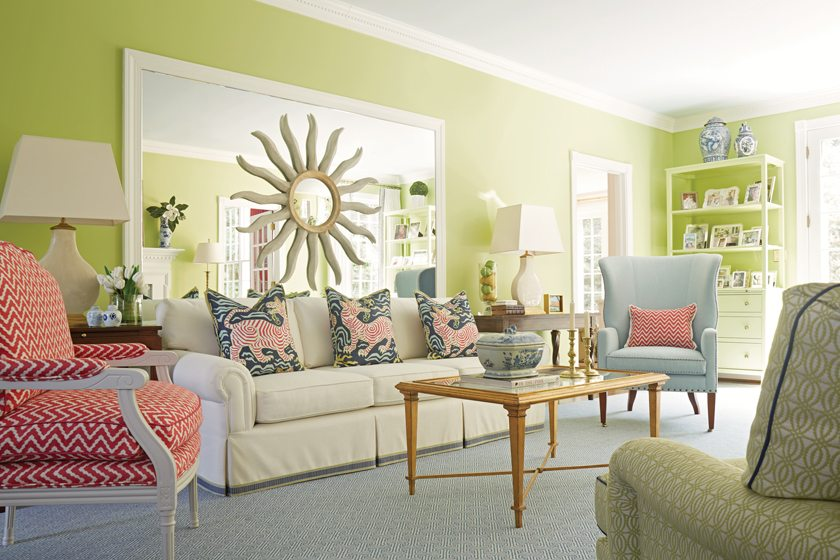 Kelley Proxmire imparted her signature crisp, colorful style to a house in Falls Church   ©Kip Dawkins