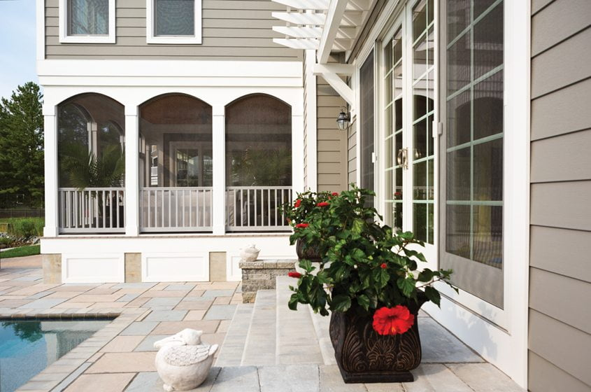 Celect's moisture-resistant features are perfect for a beachfront or poolside home.