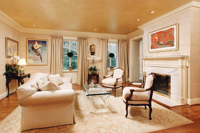Kitty Kelleys Living Room Offers An Understated Backdrop For Vibrant Artwork