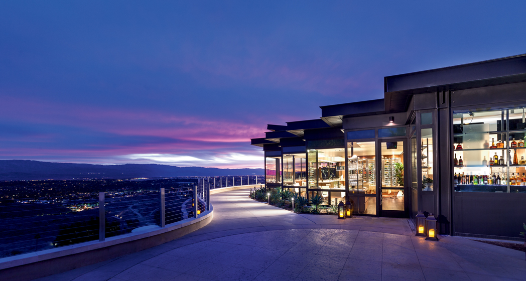 The view from The Edge Steakhouse at Rancho Mirage in Palm Springs.