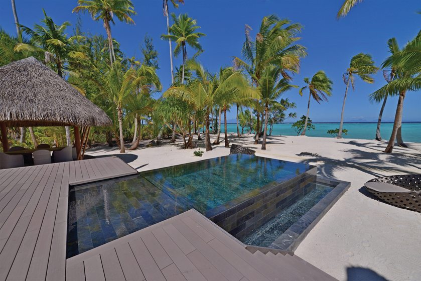 A private plunge pool at The Brando.