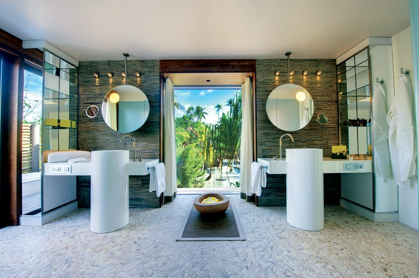 A villa at The Brando, which is located on an island near Tahiti.