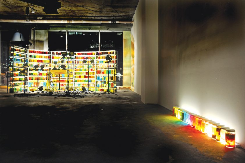 Wolfe's installation illustrates the effects of toxins on waterways in the DC area. © Greg Staley
