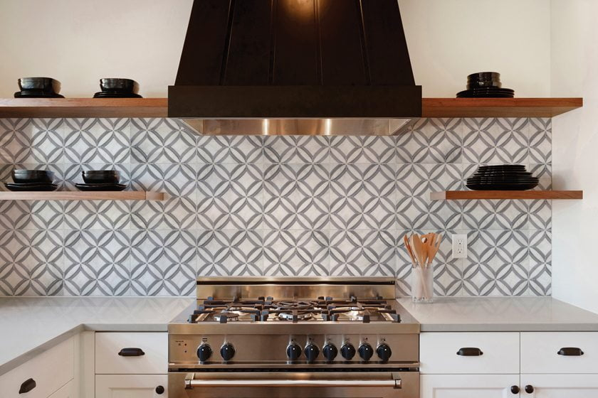 A Carrara backsplash from Stone Impressions.
