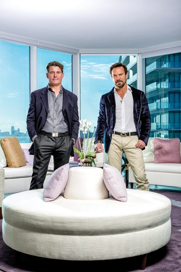 Designers Todd Davis (left) and Rob Brown.