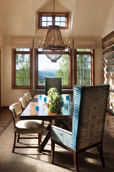 The dining room affords breathtaking views.
