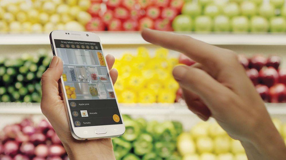 The Smartphone app for Samsung's refrigerator.