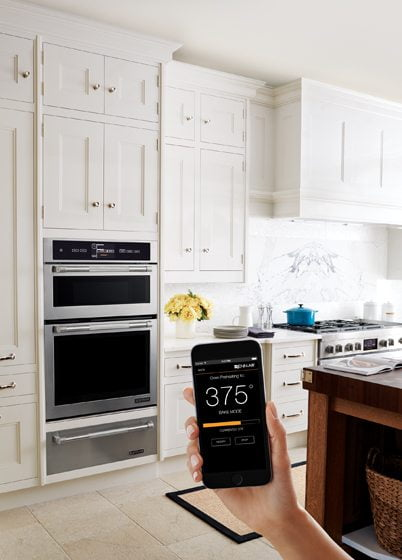 Jenn-Air's dual-convection Connected Wall Oven.